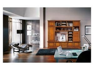 Art.113, Classical style library with glass doors