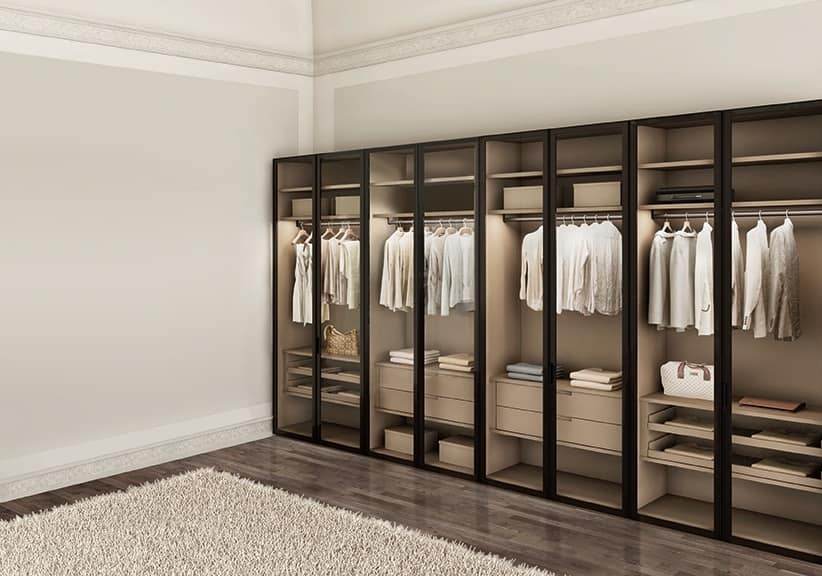 Modern Wardrobe For Bedrooms With Glass Doors Idfdesign