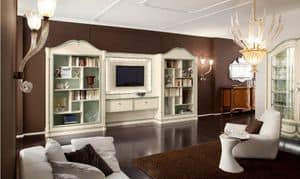 Bourbon Art. 25.006, Wall system for living room, with twin libraries