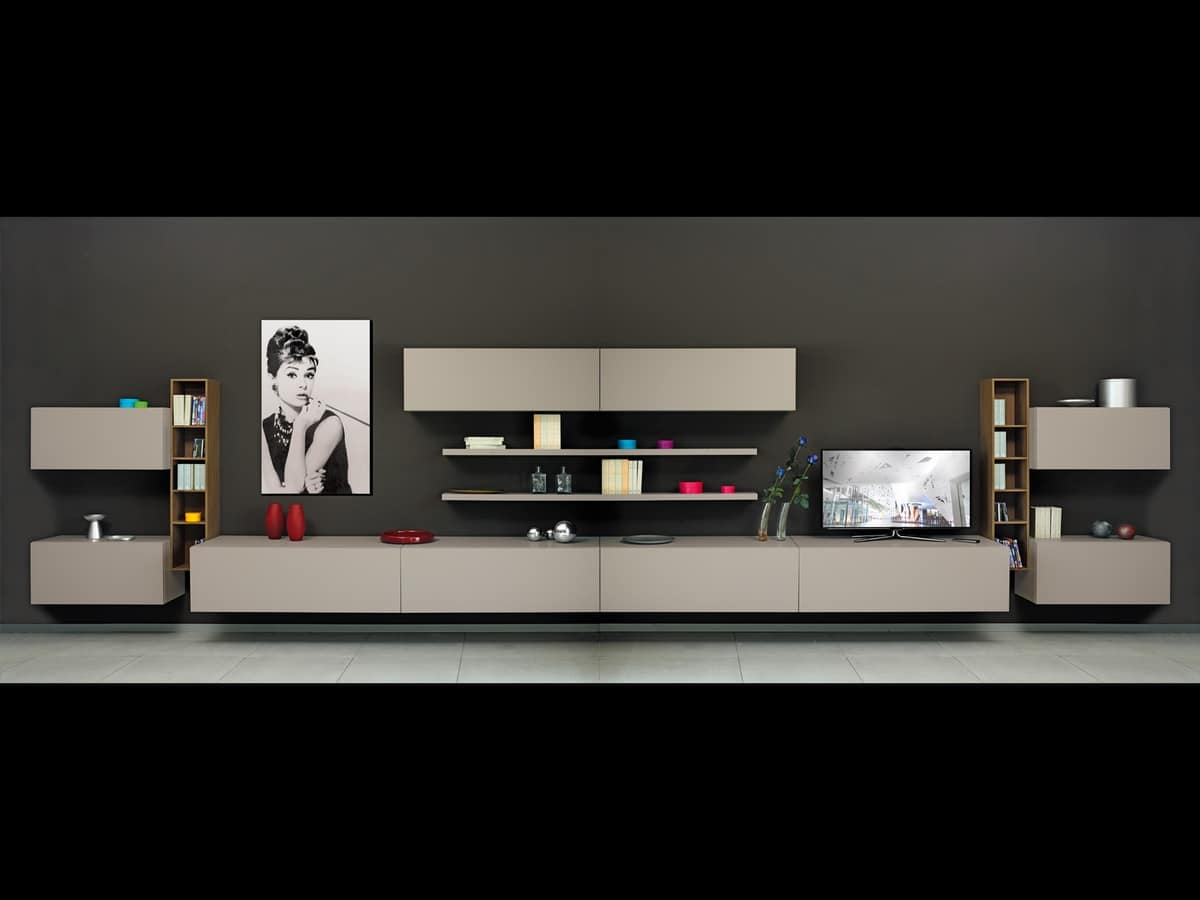 Modular Containers For Living Room With Doors And Shelves