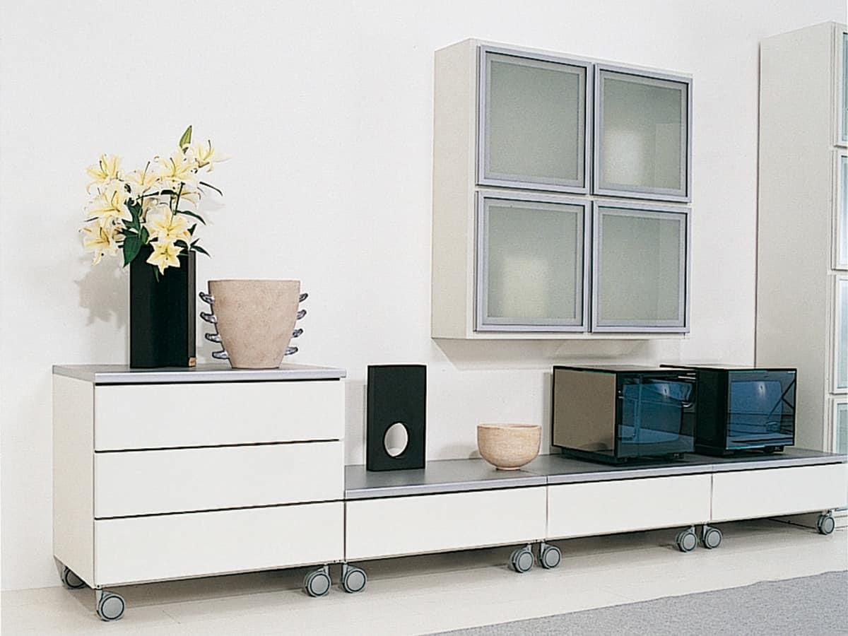 modular system for living rooms in elegant design idfdesign. Black Bedroom Furniture Sets. Home Design Ideas