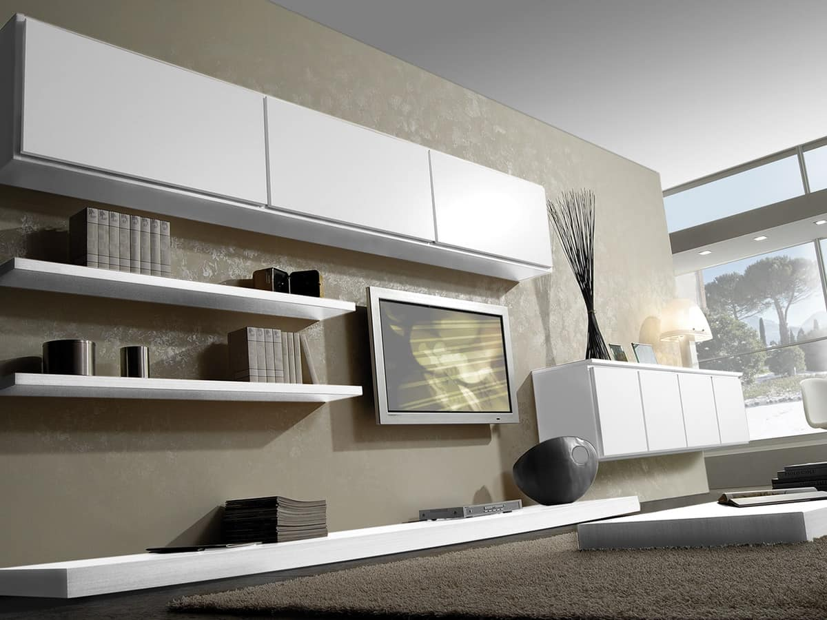 Modular system for the living room with modern style for Modern day living room