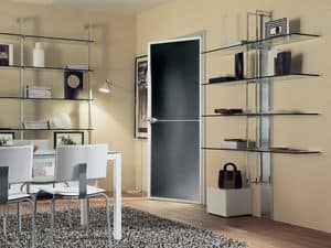 dl300 helsinky, Shelving with silver leaf coated mast