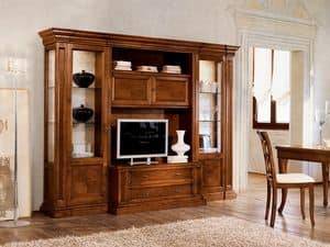 Picture of Ginestre bookcase GS090, carved cabinets