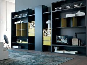 Habitat bookcase, Bookcase for living room, Modular cabinet for dining room
