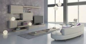 Living room 24, Modular furniture for living room, contemporary design, customizable finishes and elements