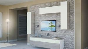 Milano 11, Living room furniture, with panels made of rock