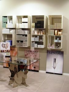 Overtime Shopping, Wall storage units, in rolled steel, ideal for shops and perfumeries