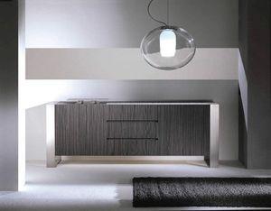 Ring sideboard, Contemporary sideboard in light or dark oak