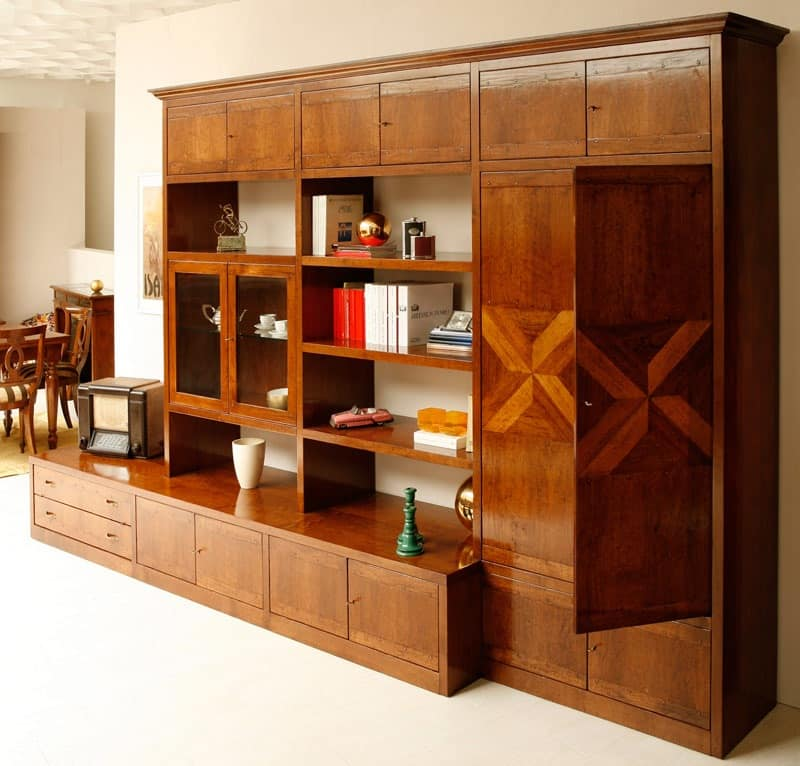 Modular Furniture For Living Room Carvings On The Doors