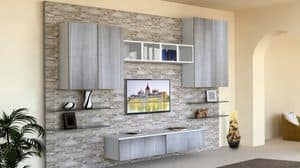 Top Milano, Living room furniture, with stone-clad wall