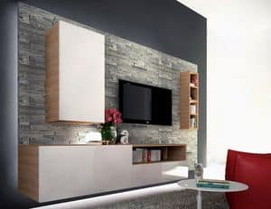 Venezia 15, Living room furniture, in melamine and slate