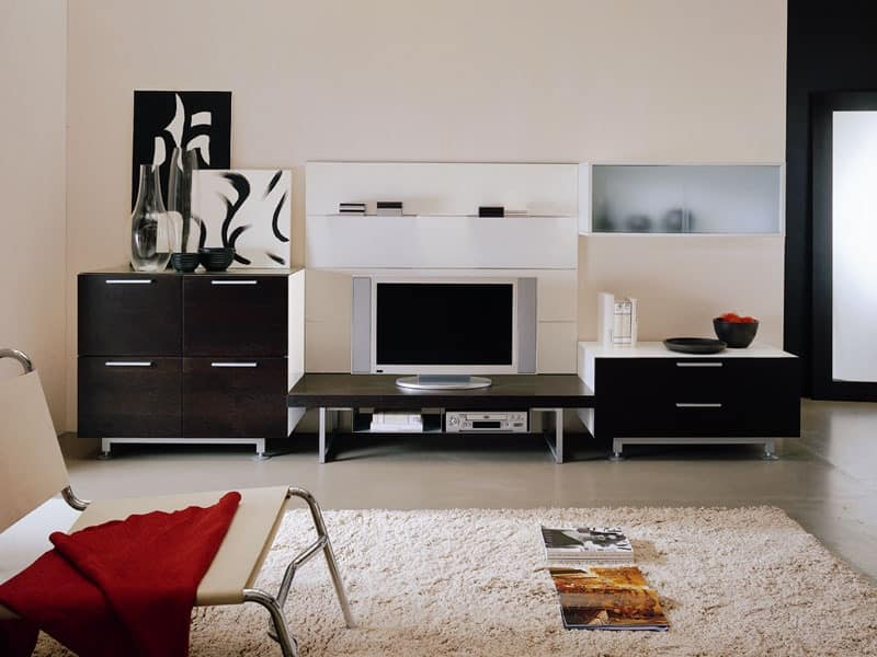 Storage modular living room systems idf for Abitare furniture