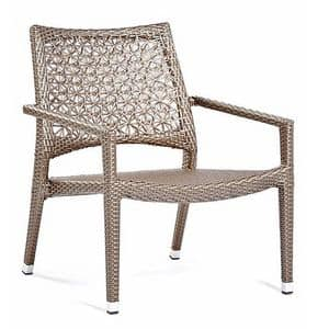 Altea lounge, Lounge seat,  weaving with floral motif, for outdoors