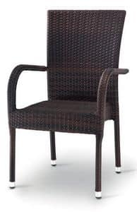 PL 731, Woven armchair suited for garden and terrace