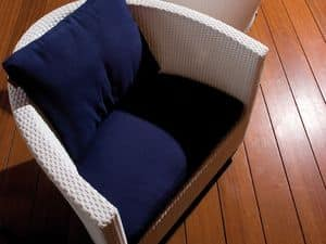 Picture of Vivaldi armchair C58015, wicker chair
