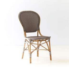 Paris - Ines S, Wicker chair, with cushion, for cafes and bars