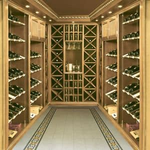 Picture of Boiserie wine cellar, cellar furniture