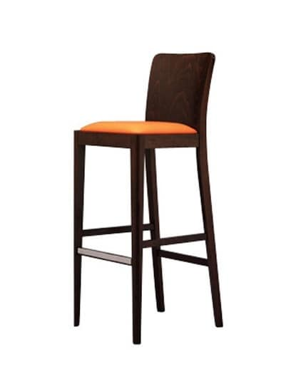 336 SG, Wooden barstool, resistant, for ice cream parlor