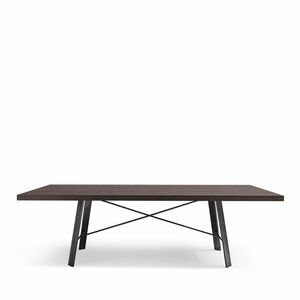 Hermitage table, Rectangular wooden table suited for modern dining room