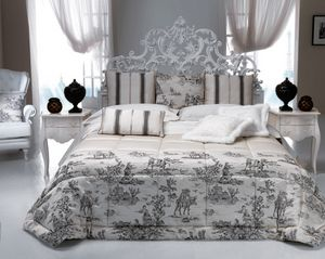 Art. 9095.170, Classic bed, white wood finish, with carvings