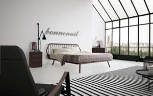 Picture of Bed Trama wood, beds with wooden bedframe