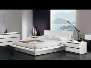 Bed Design 17, Double bed, wooden frame, modern style