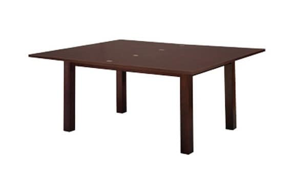 830, Beech table with extension, square legs, for Kitchen