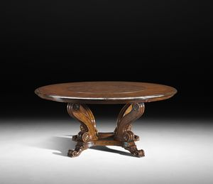 Art. 805/LS table, Extendable table with lazy susan