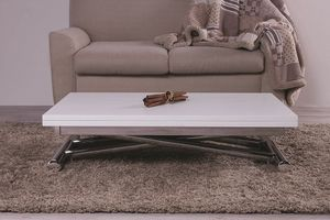 Gingillo, Coffee table transformable in dining table, with gas mechanism