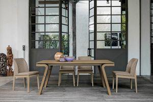MACISTE 180 TA500, Table in walnut or oak wood
