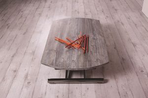 Redondo, Coffee table transformable in shape and dimensions