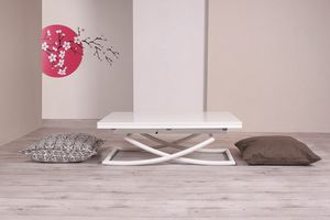 Sakura, Transformable coffee table with doubled top