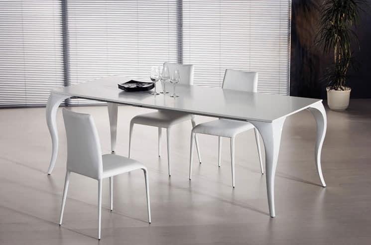 Extendable dining table various versions idfdesign for Tavola da pranzo allungabile