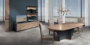 TA64K Desyo, Extendable table with inlaid top