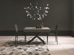 Ulisse, Transformable and adjustable coffee table, wooden top