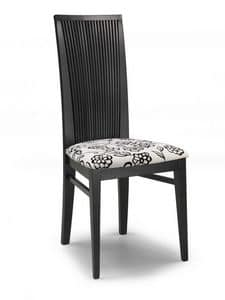 Siria V, Chair with padded seat and high backrest with slats