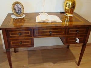 Art. 270, Classic luxury desk with 5 drawers, for studios