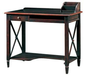 Ilario FA.0037, PC stand desk, handmade fittings, antique-style