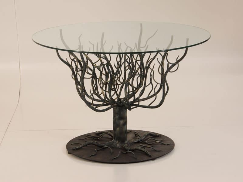 Table With Structure Tree Branches Wrought Iron