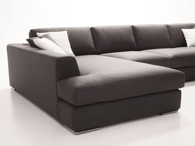 Titanic, Sofa with peninsula, modular and elegant, for living
