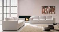 Santiago, Linear sofa, with chrome base, for office