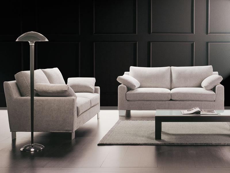Axel, Comfortable sofa seating, with island, custom-made