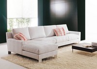 Axel, Comfortable sofa seating, with island, custom-made