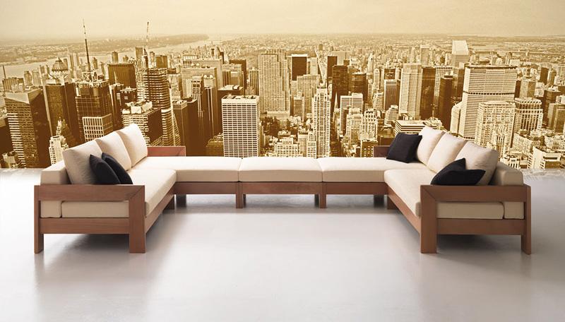 Modular sofa minimalist, modern style, for tavern | IDFdesign