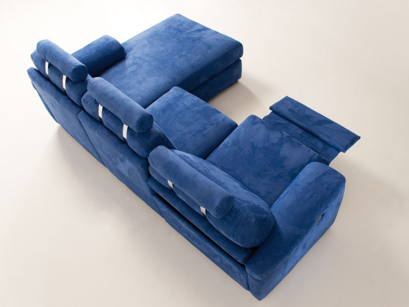 Anais, Sofa relaxing, comfortable, tilting and extension, for studio