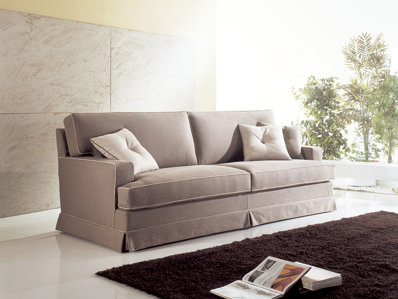 Louvre, Washable sofa, wooden frame, padded foam