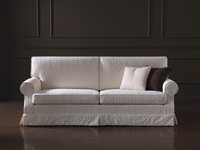 Navarra, Sofa with classic lines, removable fabric, for living room