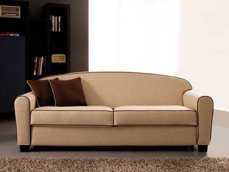 Narciso, Double sofa bed, removable fabric, spring mattress