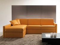 Afrodite peninsula, Sofa bed with storage and peninsula, for apartment